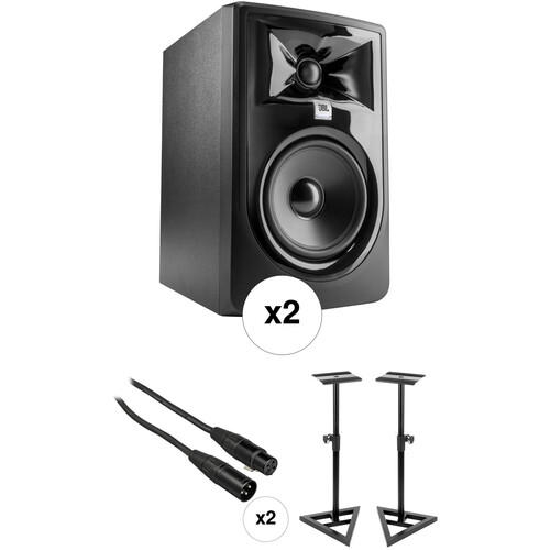 JBL 305P MkII Studio Monitor Kit with Stands and Cables (Pair)