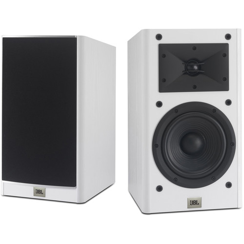 "JBL Arena 130 7"" 2-Way Passive Bookshelf Loudspeakers (White, Pair)"