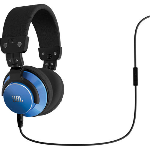 JBL BassLine DJ-Style Over-Ear Headphones (Blue)