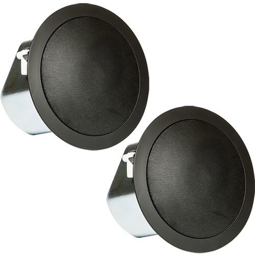 """JBL Control 12C/T Professional Series 3"""" 40W Passive Ceiling Loudspeaker (Pair, Black)"""