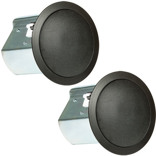 "JBL Professional Series Control 14C/T Two-Way 4"" Coaxial Ceiling Loudspeakers (Black, Pair)"