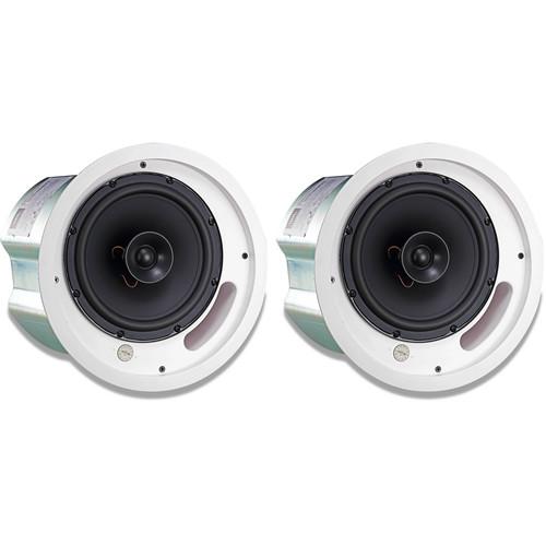 """JBL 2-Way 8"""" Coaxial Ceiling Loudspeaker (Pair, White)"""