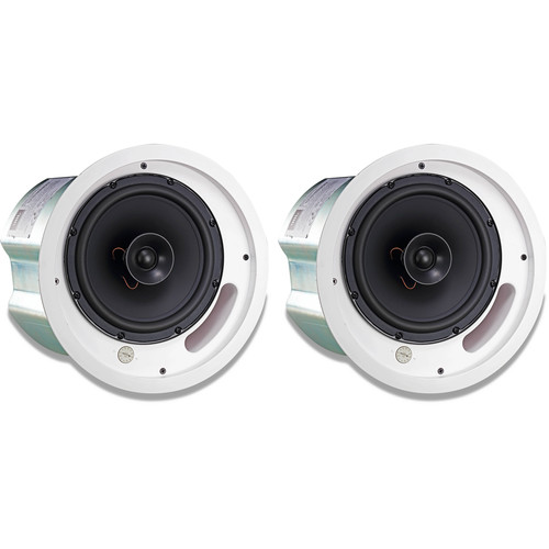 "JBL 2-Way 8"" Coaxial Ceiling Loudspeaker (Pair, Black)"