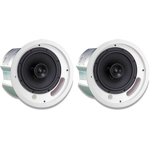 """JBL 2-Way 8"""" Coaxial Ceiling Loudspeaker (Pair, Black)"""