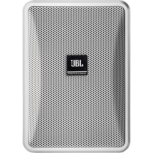 "JBL Control 23-1L 3"" Ultra-Compact 8-Ohm 2-Way Indoor/Outdoor Speaker (Pair, White)"