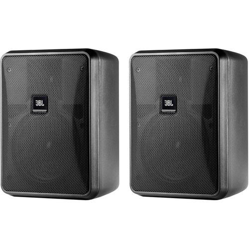 JBL Control 25-1 Compact Indoor/Outdoor Speakers, Wire & Mixer Amplifier Kit (Pair, Black)
