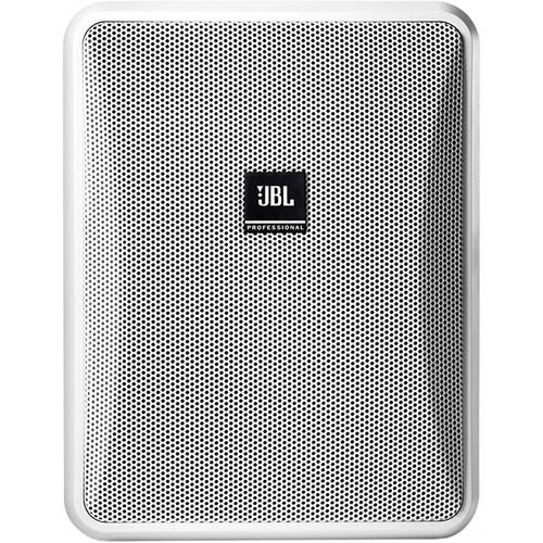JBL Control 25-1 Compact Indoor/Outdoor Speakers, Wire & Mixer Amplifier Kit (Pair, White)