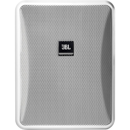 "JBL Control 25-1L 5.25"" Compact 8-Ohm 2-Way Indoor/Outdoor Speaker (Pair, White)"
