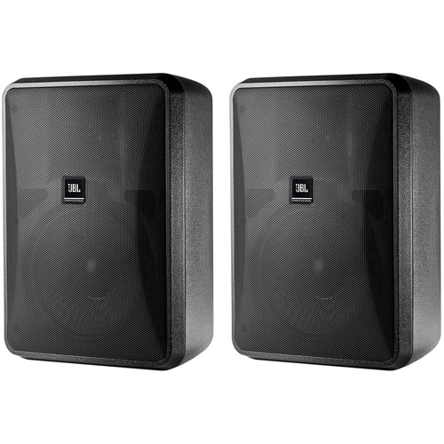 JBL Control 28-1 High Output Indoor/Outdoor Background/Foreground Speaker (Pair, Black)