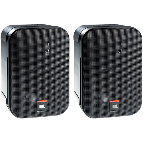 JBL Compact 10W/8-Ohms Two-Way Loudspeaker with Multi-Tap 100V/70V Transformer (Pair)