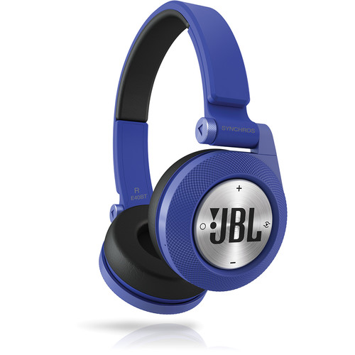 JBL Synchros E40BT Bluetooth On-Ear Headphones (Blue)