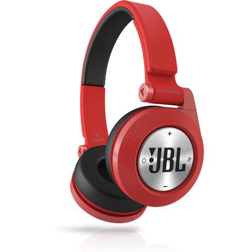 JBL Synchros E40BT Bluetooth On-Ear Headphones (Red)