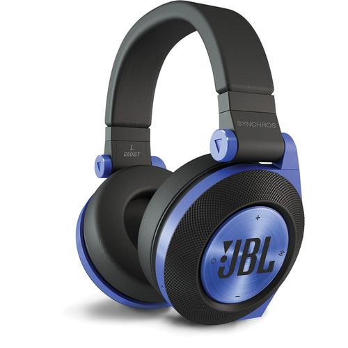 JBL Synchros E50BT Bluetooth On-Ear Headphones (Blue)
