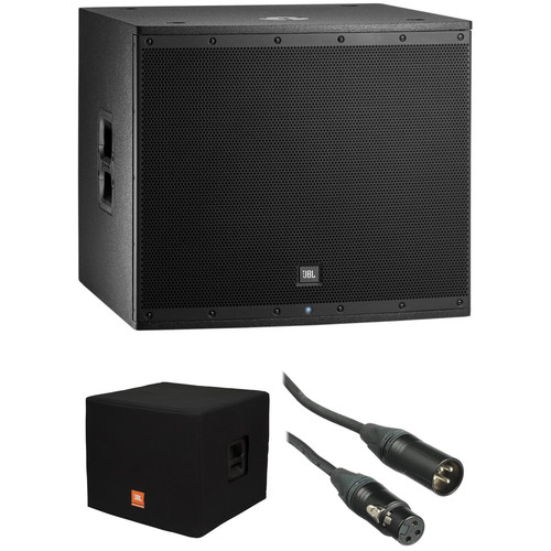 JBL EON618S Powered Subwoofer Kit with Padded Cover and 50' XLR Cable