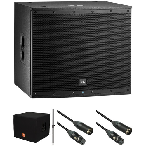 JBL EON618S Powered Subwoofer Kit with Cover, Pole and Cables