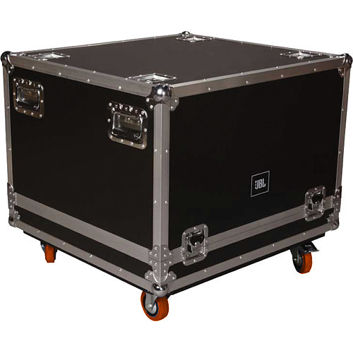 JBL SRX/VRX Flight Case for a SRX718S or VRX918S Speaker (Orange Wheels)