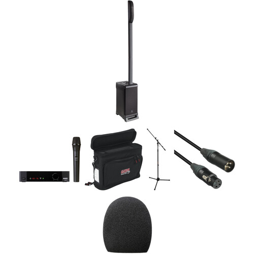 JBL Go Mobile Rechargeable Portable PA Kit with EON One Pro, Wireless Mic, and Accessories