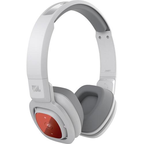 jbl j56bt bluetooth on ear headphones white j56bt wht b h. Black Bedroom Furniture Sets. Home Design Ideas