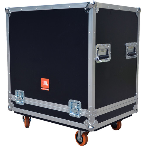 JBL BAGS PRX Flight Case with Orange Wheels for Two PRX715 Speakers