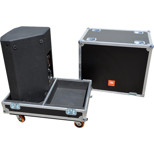 JBL BAGS PRX Flight Case with Orange Wheels for Two PRX815W Speakers
