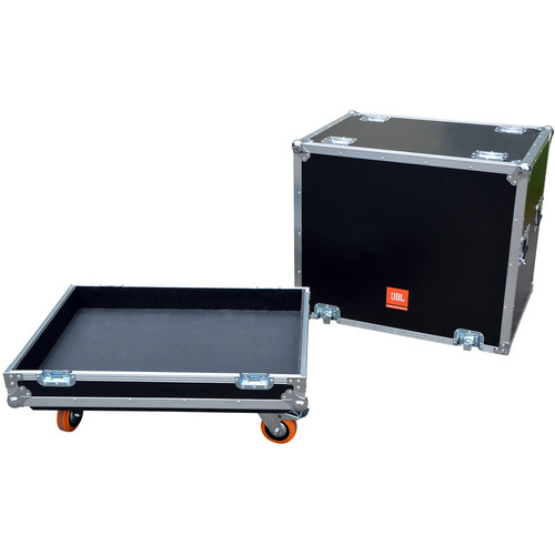 JBL BAGS PRX Flight Case with Orange Wheels for the PRX818XLFW Speaker