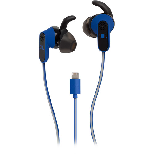 JBL Reflect Aware Sport Earphones with Noise Cancellation & Adaptive Noise Control (Blue, iOS)