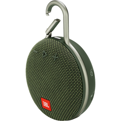 JBL Clip 3 Portable Bluetooth Speaker (Forest Green)