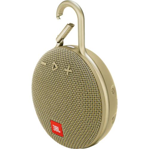 JBL Clip 3 Portable Bluetooth Speaker (Desert Sand)