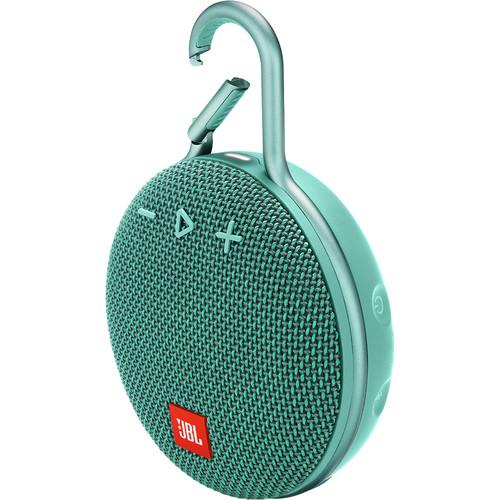 JBL Clip 3 Portable Bluetooth Speaker (River Teal)