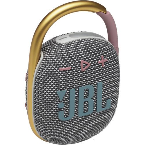 JBL Clip 4 Portable Bluetooth Speaker (Gray)