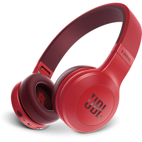 JBL E45BT Bluetooth On-Ear Headphones (Red)