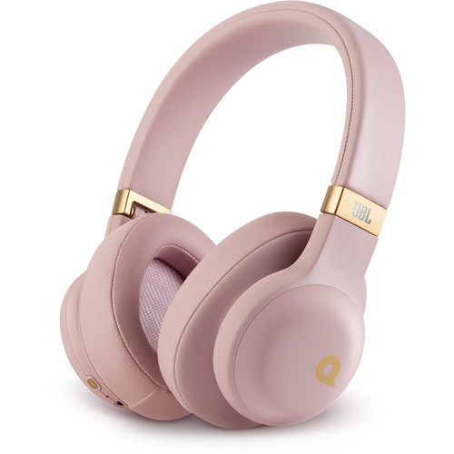 JBL E55BT Quincy Edition Bluetooth Over-Ear Headphones (Dusty Rose)