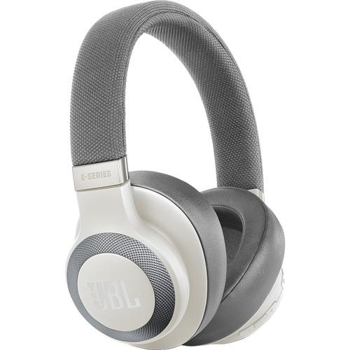 JBL E65BTNC Bluetooth Over-Ear, Noise-Canceling Headphones (White)