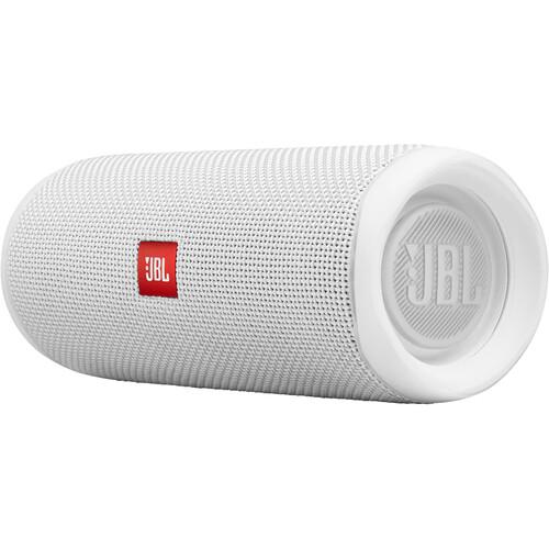 JBL Flip 5 Waterproof Bluetooth Speaker (Steel White)