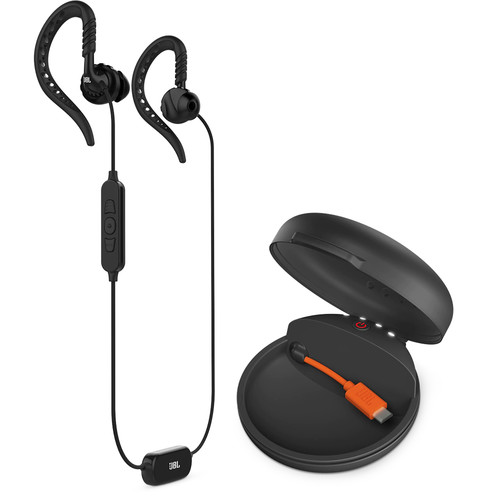 JBL Focus 700 Wireless Sport In-Ear Headphones with Charging Case (Black)