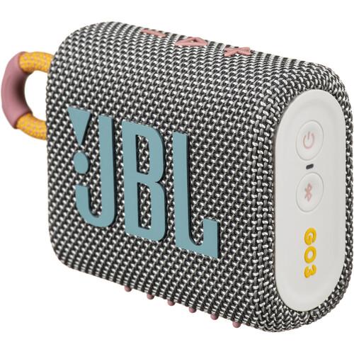 JBL Go 3 Portable Bluetooth Speaker (Gray)