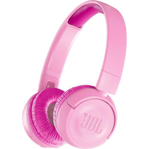 JBL JR300BT Kids Wireless On-Ear Headphones (Punky Pink)
