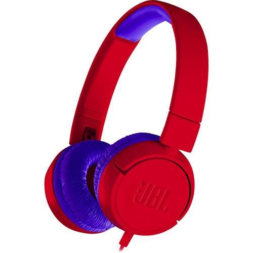 JBL JR300 Volume-Limited Kids On-Ear Headphones (Spider Red)