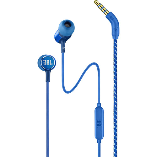 JBL Live 100 In-Ear Headphones with 1-Button Remote & Mic (Blue)