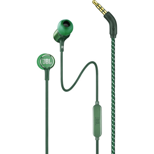 JBL Live 100 In-Ear Headphones with 1-Button Remote & Mic (Green)