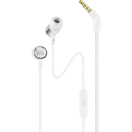 JBL Live 100 In-Ear Headphones with 1-Button Remote & Mic (White)