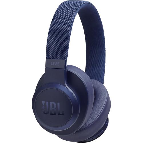 JBL LIVE 500BT Wireless Over-Ear Headphones (Blue)
