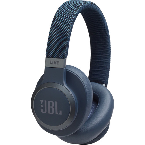 JBL LIVE 650BTNC Wireless Over-Ear Noise-Canceling Headphones (Blue)