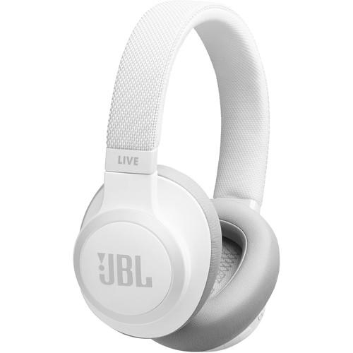 JBL LIVE 650BTNC Wireless Over-Ear Noise-Canceling Headphones (White)