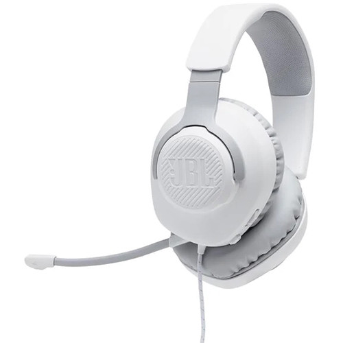 JBL Quantum 100 Wired Over-Ear Gaming Headset (White)