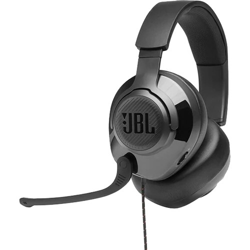 JBL Quantum 200 Wired Over-Ear Gaming Headset (Black)