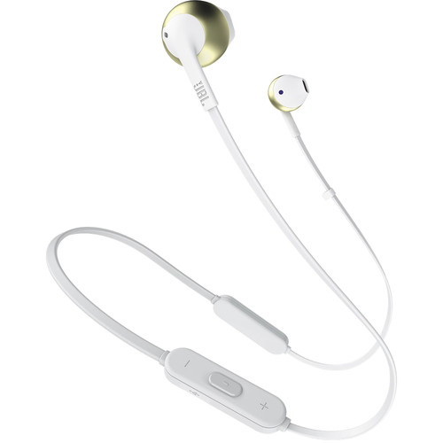 JBL TUNE 205BT Wireless Bluetooth Earbud Headphones (Champagne Gold)