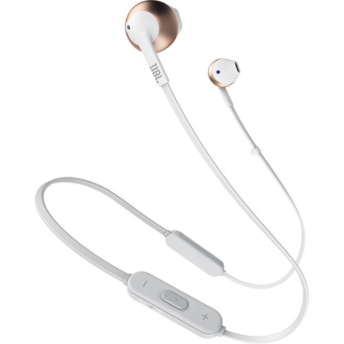 JBL TUNE 205BT Wireless Bluetooth Earbud Headphones (Rose Gold)