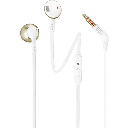 JBL T205 Earbud Headphones (Champagne Gold)