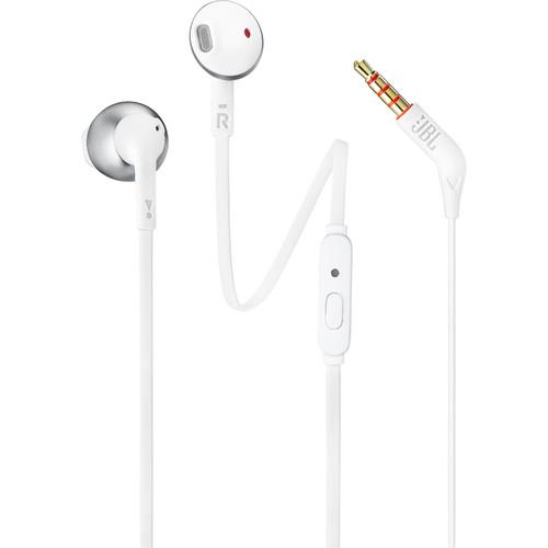 JBL T205 Earbud Headphones (Chrome)